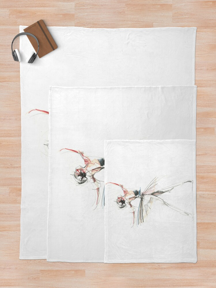 Alternate view of Expressive Dancer Dance Drawing Throw Blanket