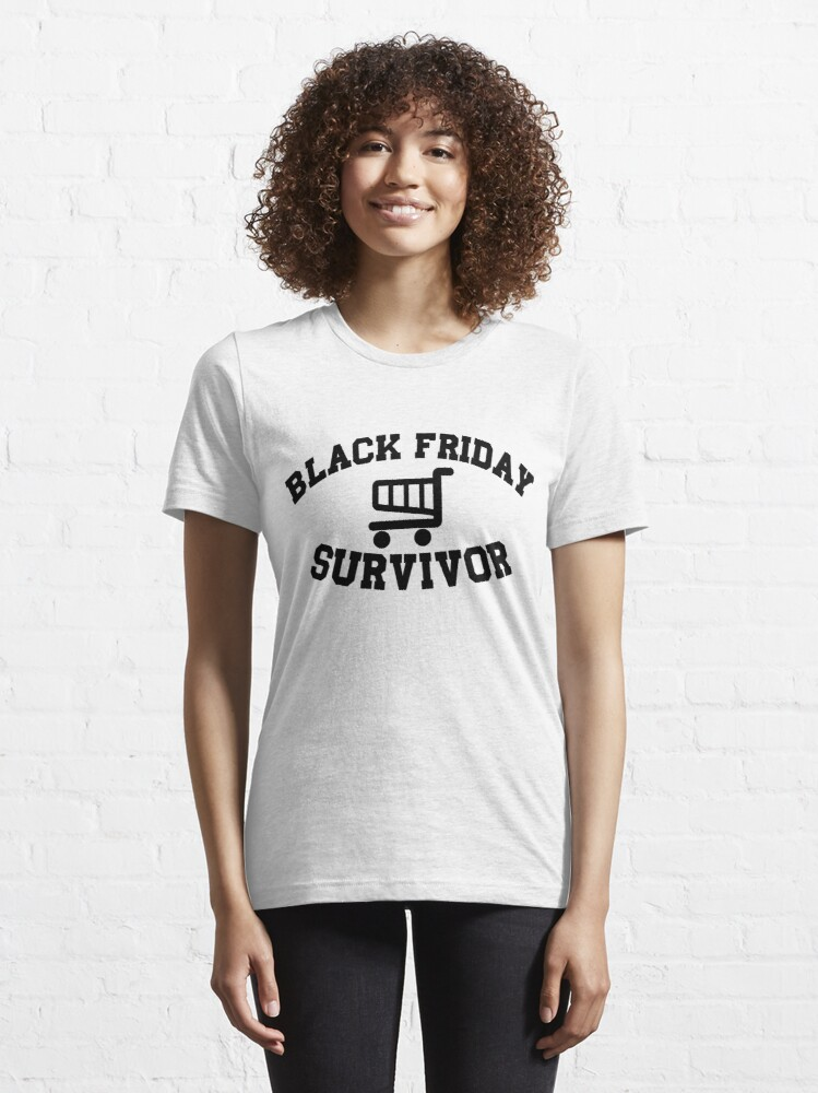 Alternate view of Black Friday Survivor Essential T-Shirt