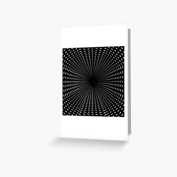Tunnel Pattern Greeting Card