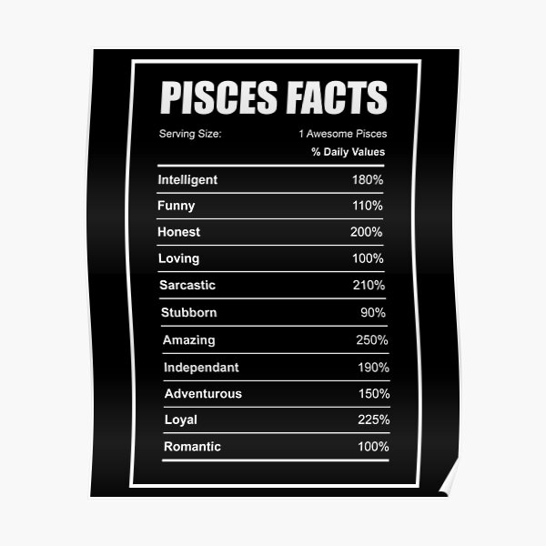 Pisces Facts  Poster