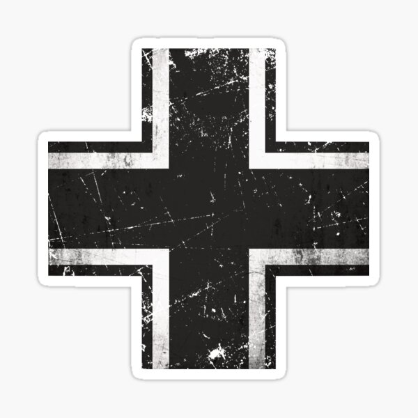 German Balkenkreuz Black Cross Sticker