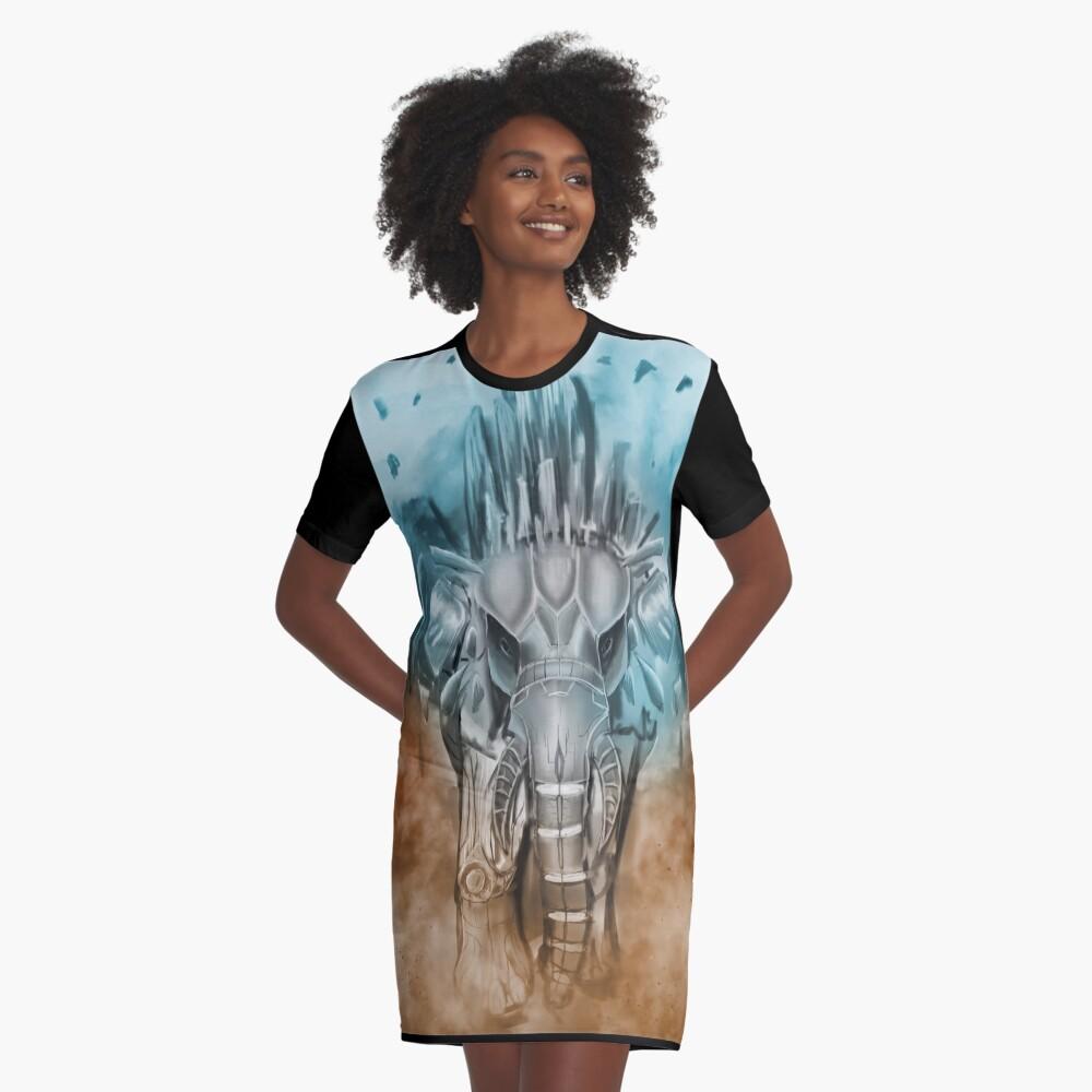 techphant Graphic T-Shirt Dress