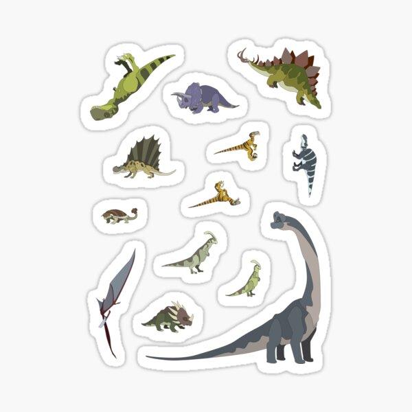 13 Dinosaur Cartoon Stickers Sticker