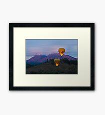 Ballooning near Wilpena Pound, Flinders Ranges South Australia Framed Print