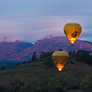 Ballooning near Wilpena Pound, Flinders Ranges South Australia by Malleescapes