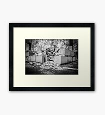 Life, Crumbling Down Around Us Framed Print