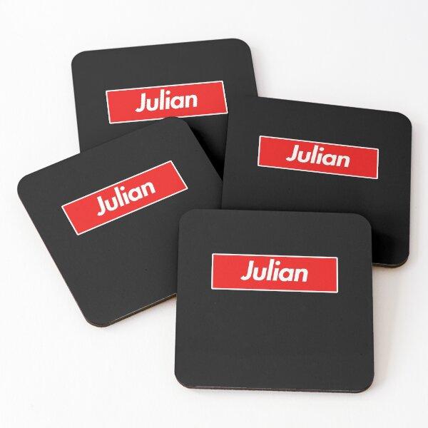 Julian Family Name -  Julian Coasters (Set of 4)