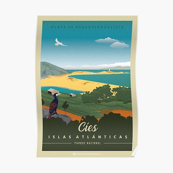 National Park Atlantic Islands of Galicia, Cíes Islands. Poster
