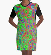 Summer Spirits in the Equalibrium | Abstract random colors #13a Graphic T-Shirt Dress