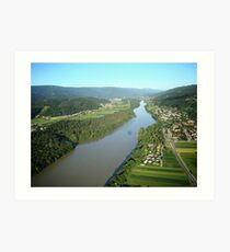 River Drava Valley Art Print