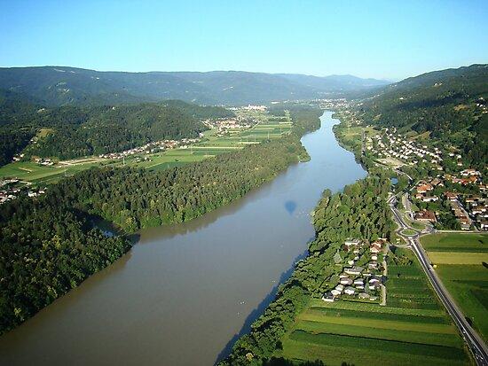 River Drava Valley by Mojca Savicki