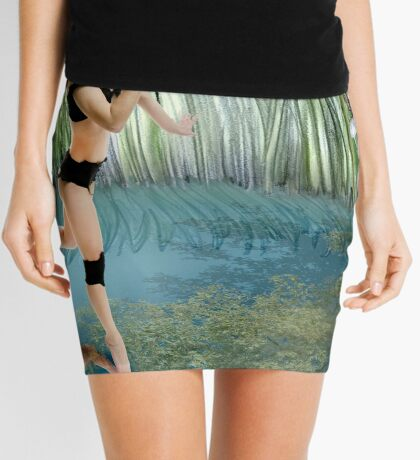 Fireflies on the Enchanted Lake - Arual Mini Skirt