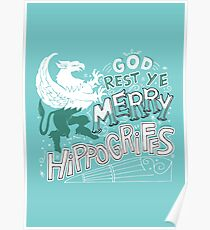 Merry Hippogriffs Poster