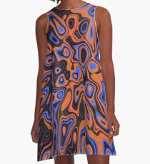 Abandoned planet | Abstract random colors #13b A-Line Dress