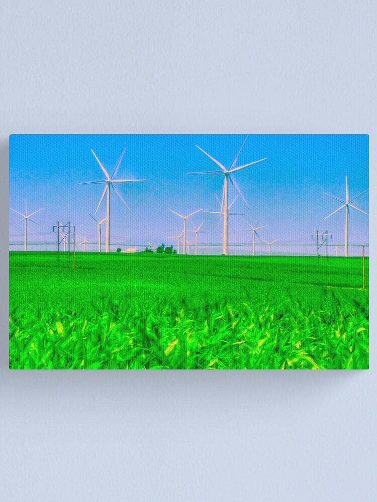 Alternate view of Illinois Wind Field Canvas Print