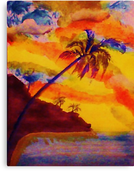 Natural Fireworks, watercolor by Anna  Lewis, blind artist
