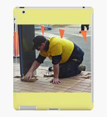 Men at work at Plaza Shopping Mall iPad Case/Skin