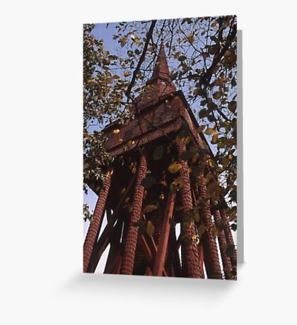 Wooden tower, Sweden Greeting Card