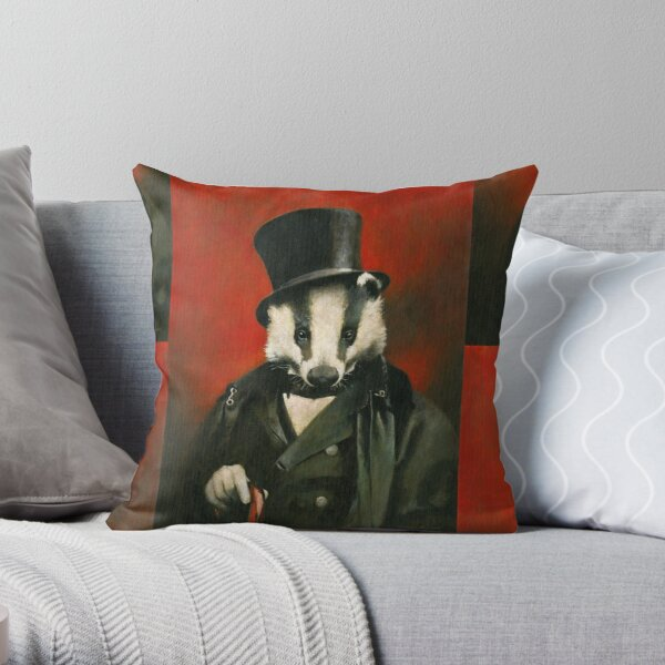 Victorian Mr Badger Coussin