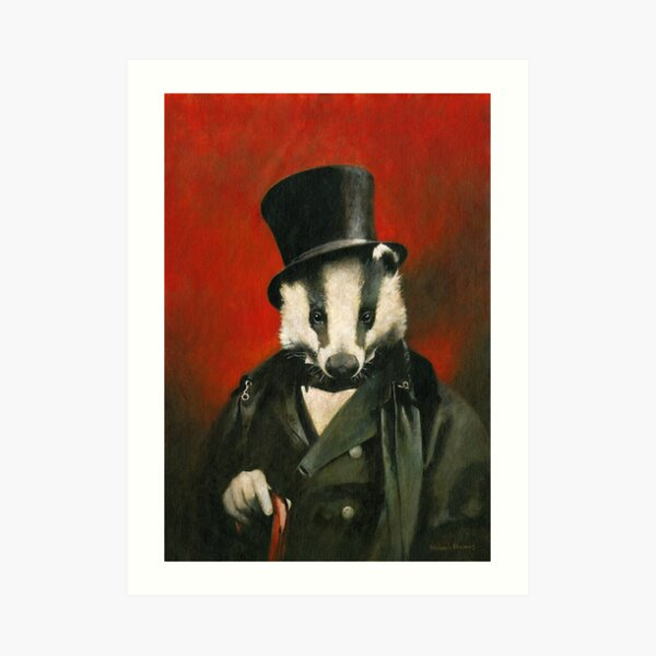 Victorian Mr Badger Art Print