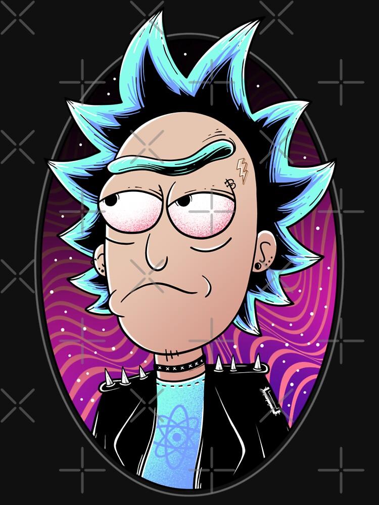 Rick Sanchez Rebel Scientist by GODZILLARGE