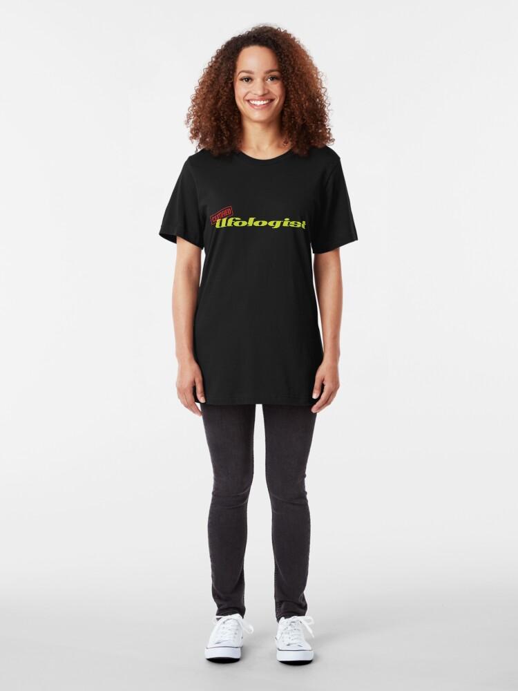 Alternate view of Certified Ufologist Slim Fit T-Shirt