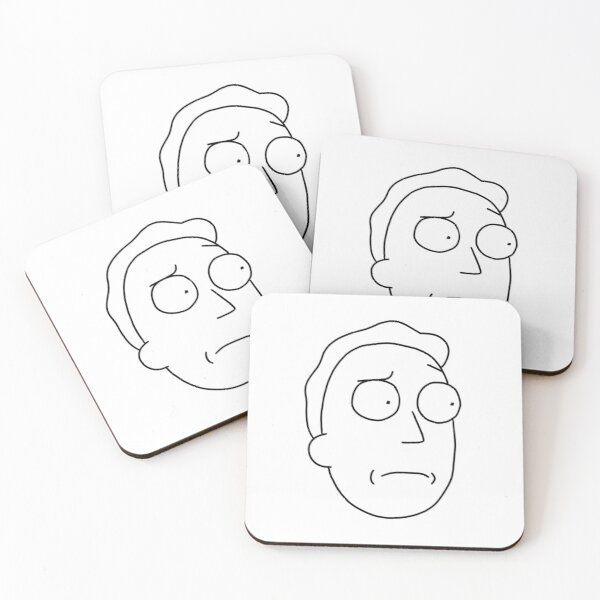 Jerry Smith   Rick and Morty character Coasters (Set of 4)