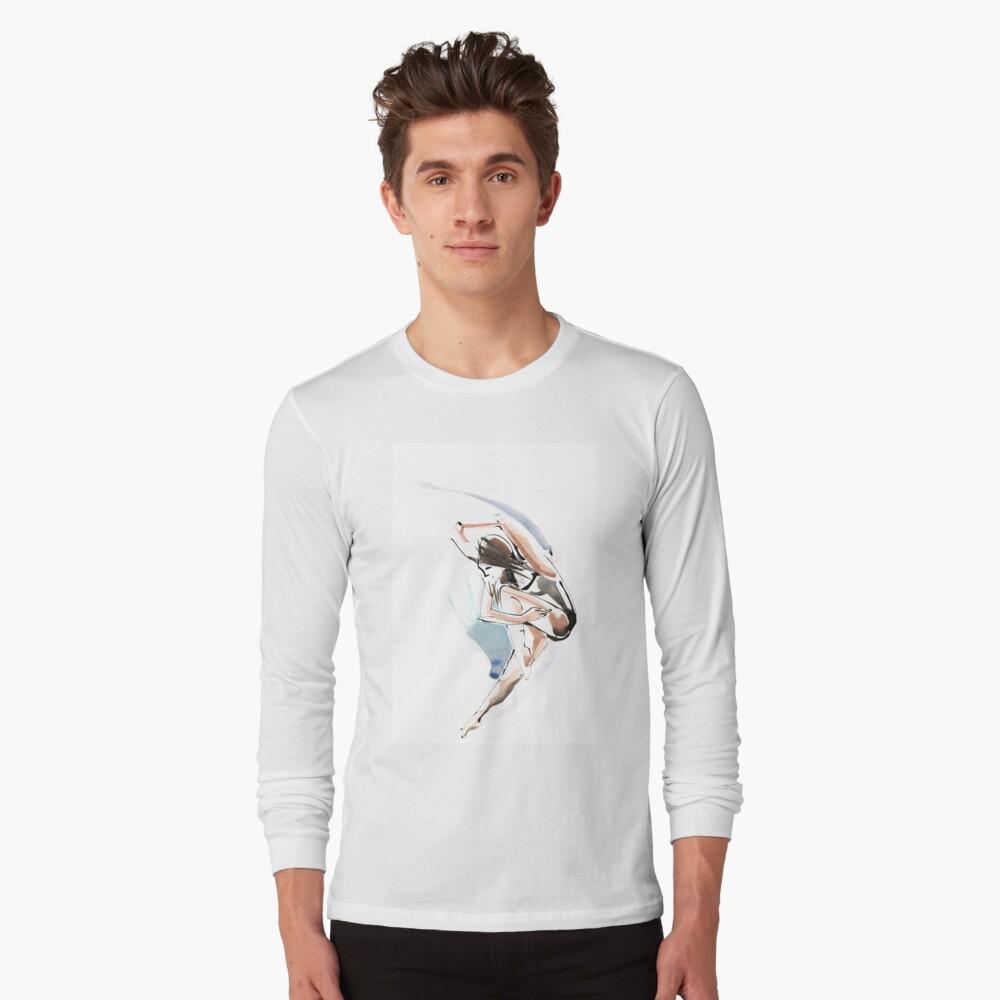 Original Jump Ballet Dance Drawing  Long Sleeve T-Shirt