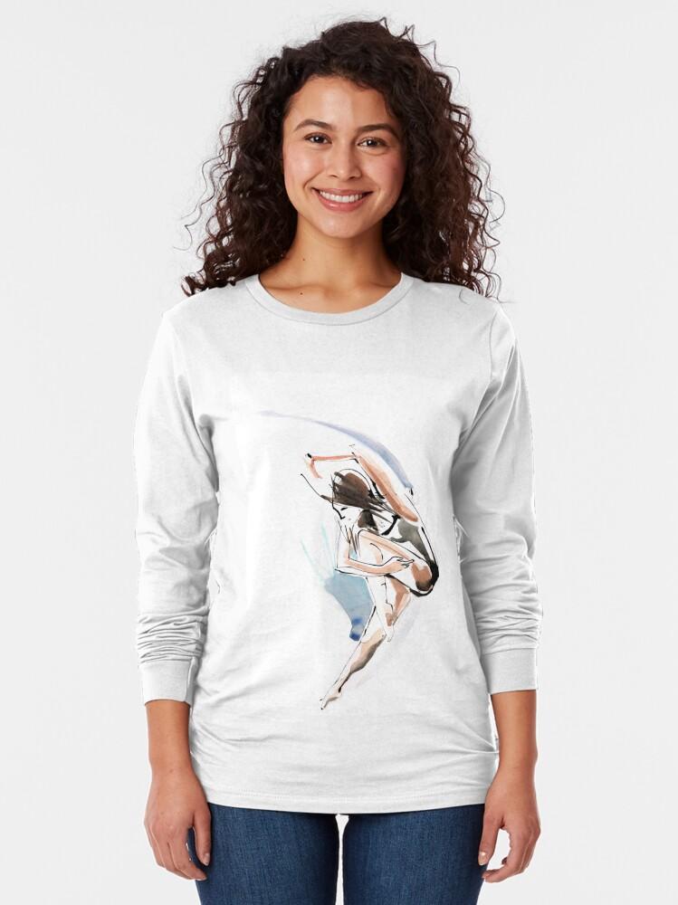 Alternate view of Original Jump Ballet Dance Drawing  Long Sleeve T-Shirt
