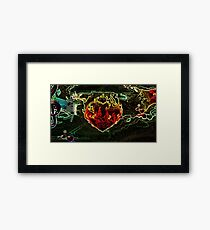 Heavy Metal Heart Framed Print