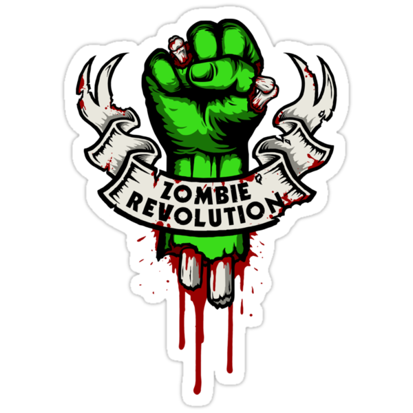 Google Image Result For Http Ih1 Redbubble Net Image 10226539 1610 Sticker 375x360 Png Zombie Green Sticker Stickers