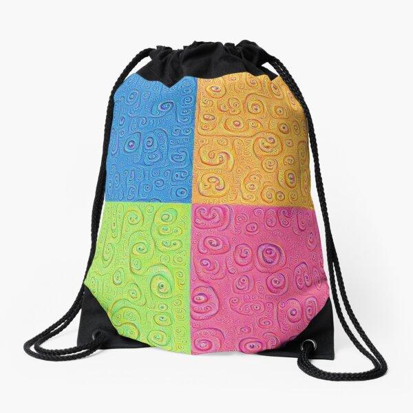Deep Dreaming of a Color World 4K Saturation Drawstring Bag