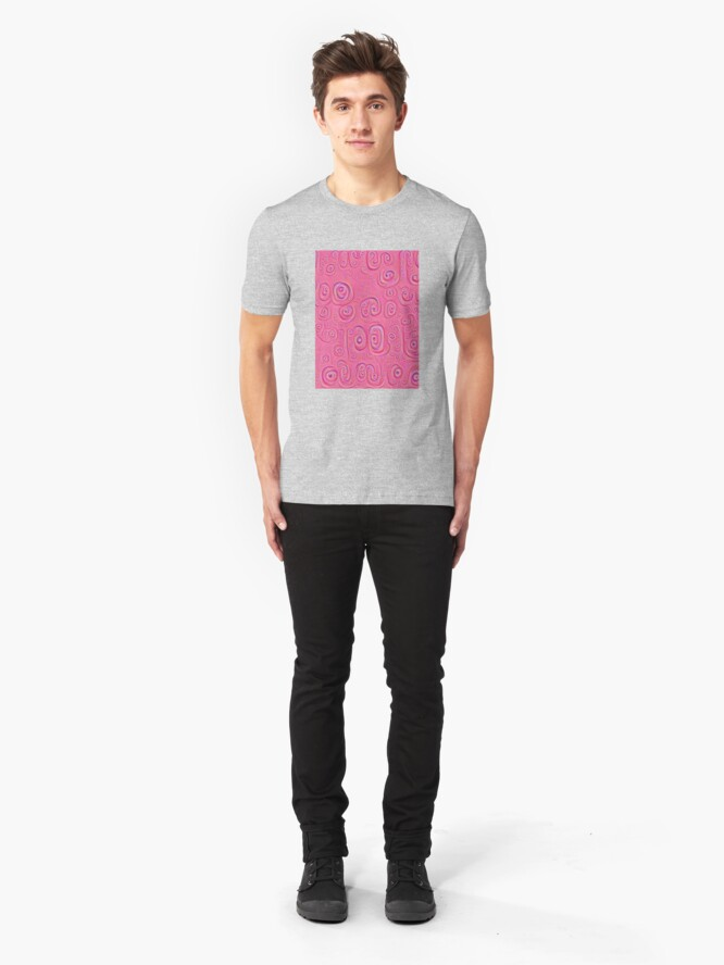 Alternate view of Deep Dreaming of a Purple World 4K Slim Fit T-Shirt
