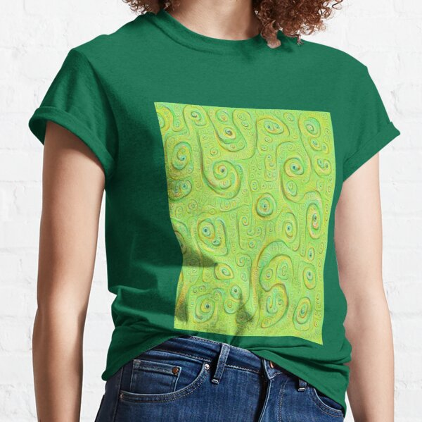 Deep Dreaming of a Green World 4K Classic T-Shirt