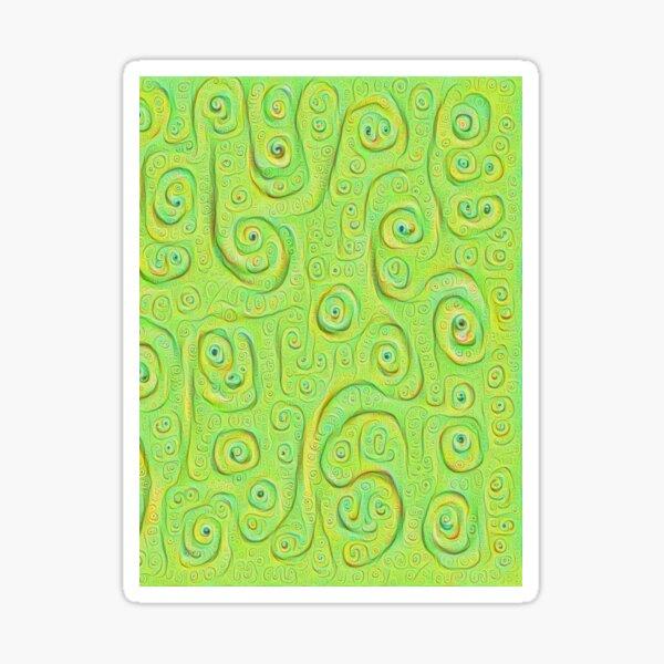 Deep Dreaming of a Green World 4K Sticker