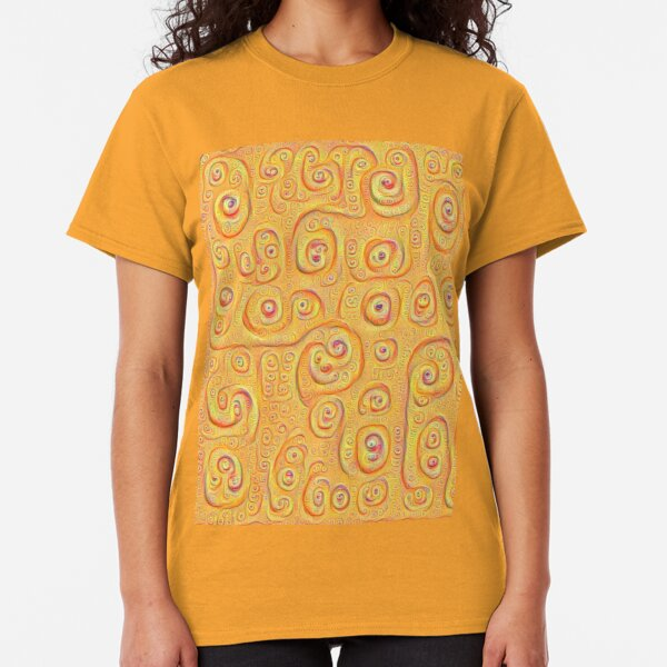 Deep Dreaming of a Yellow-Orange World 4K Classic T-Shirt
