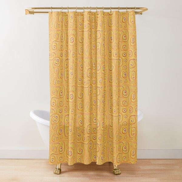 Deep Dreaming of a Yellow-Orange World 4K Shower Curtain