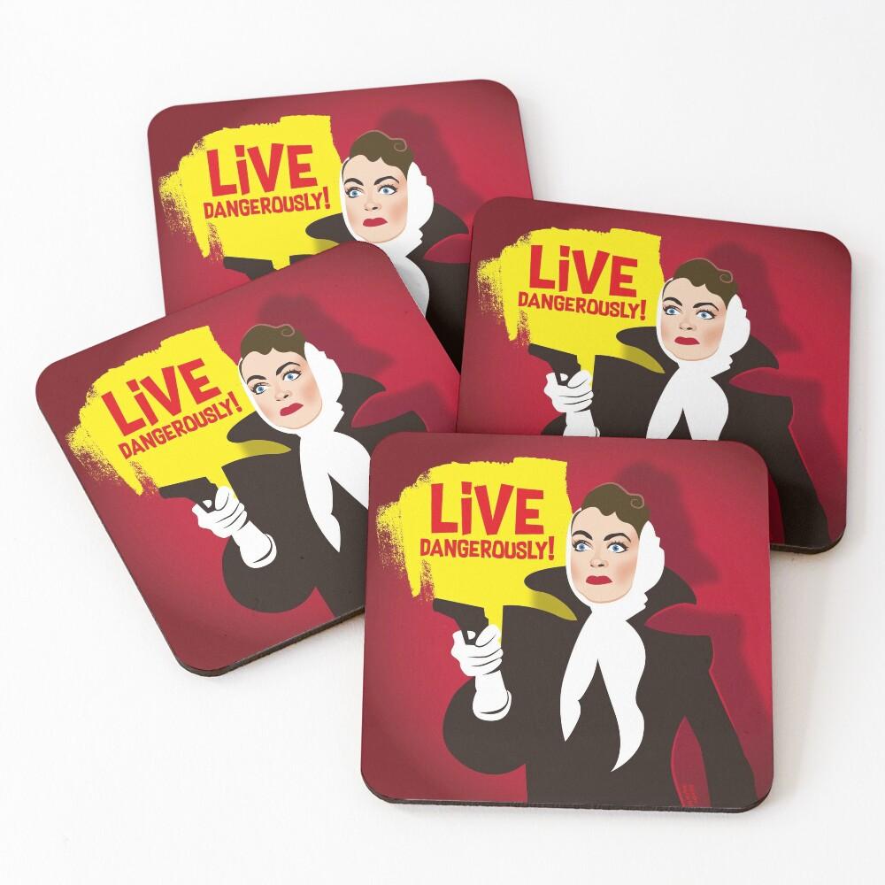 Live dangerously! Coasters (Set of 4)