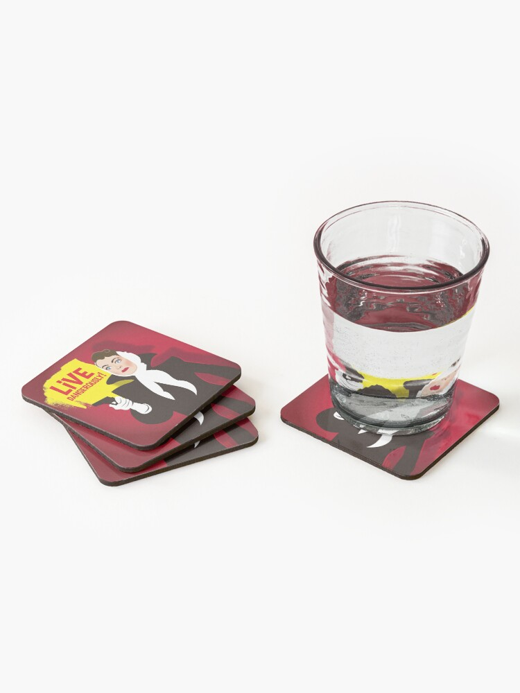 Alternate view of Live dangerously! Coasters (Set of 4)