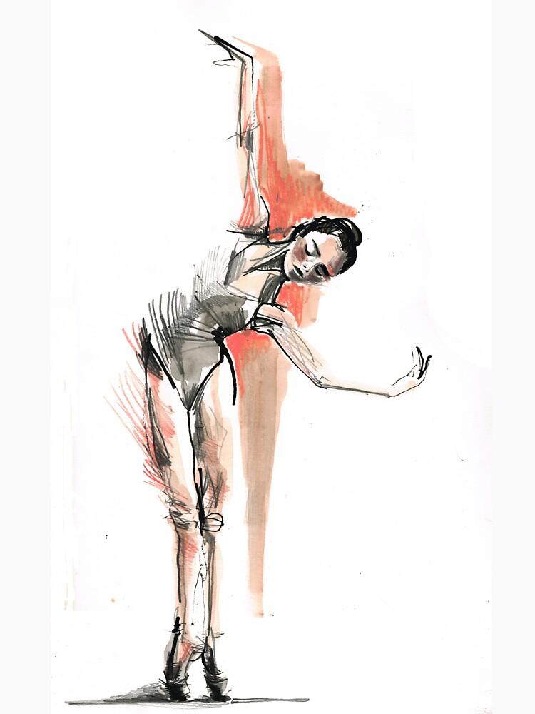 Original Ballet Dance Drawing  by CatarinaGarcia