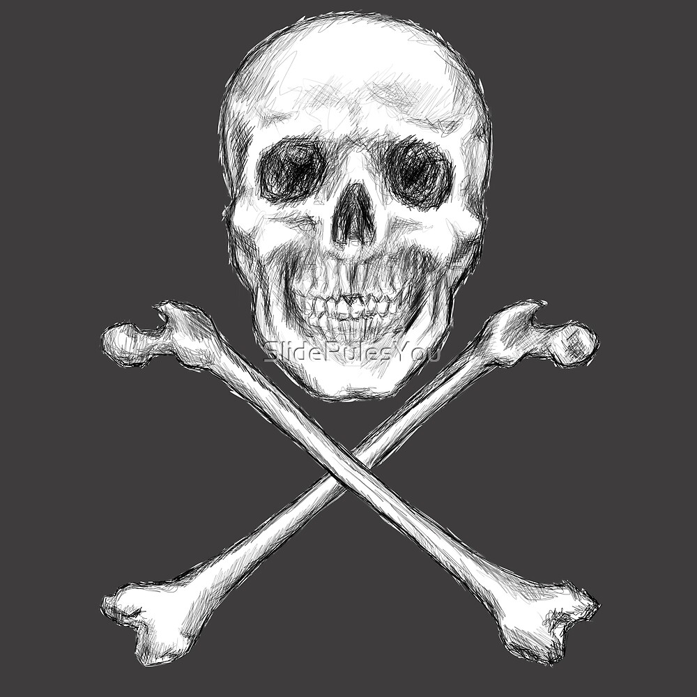 Skull and Crossbones by SlideRulesYou