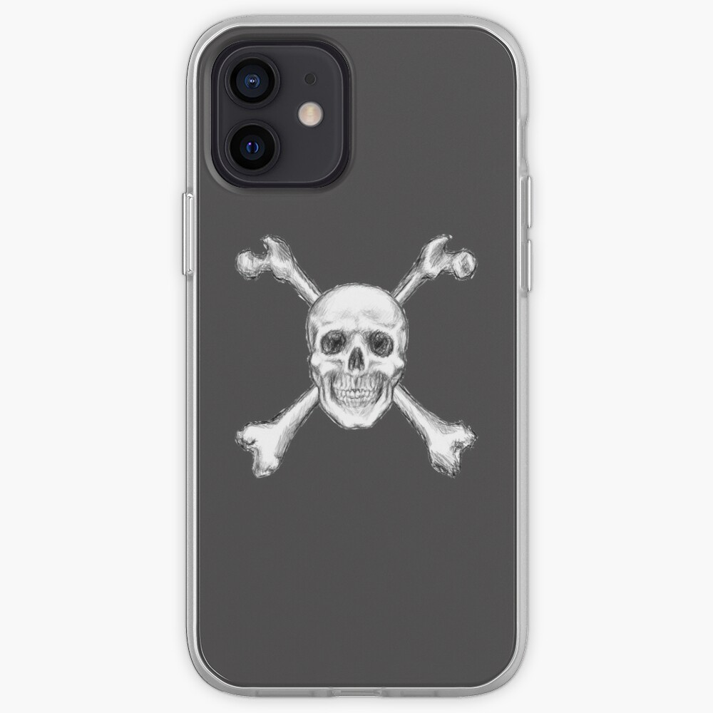 Skull and Crossbones, Centred iPhone Case & Cover