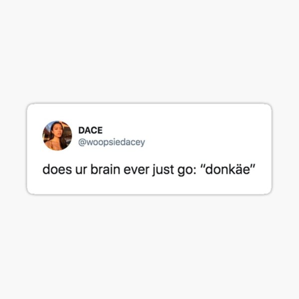 Donkey/Shrek Tweet Sticker