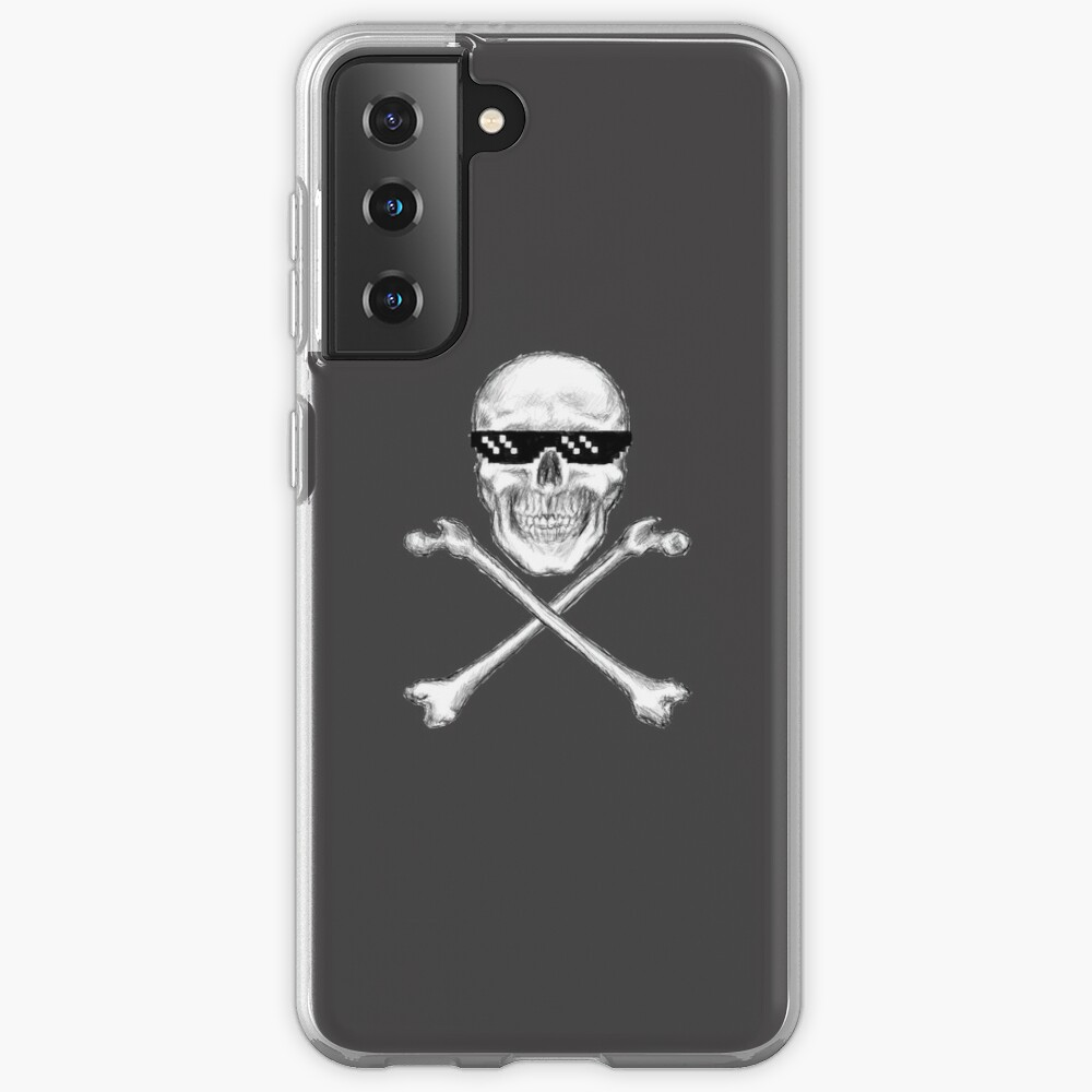 Skull and Crossbones in Sunglasses Case & Skin for Samsung Galaxy
