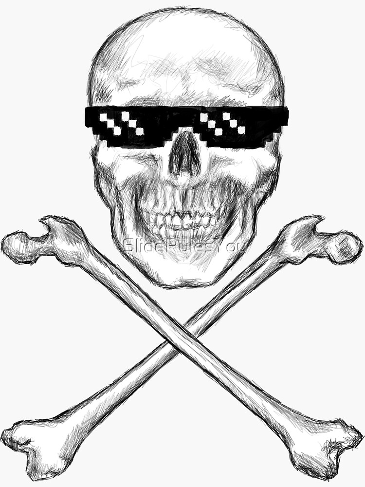 Skull and Crossbones in Sunglasses by SlideRulesYou