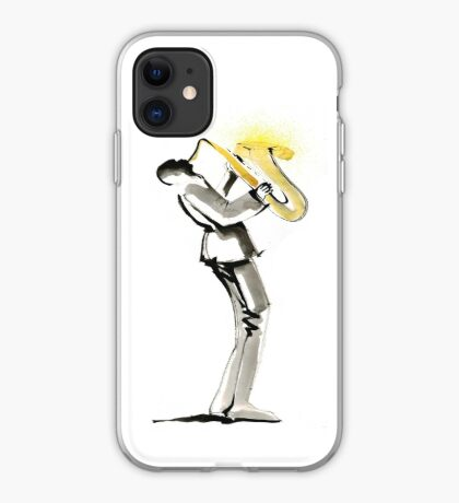Musician Saxophonist Drawing Series iPhone Case