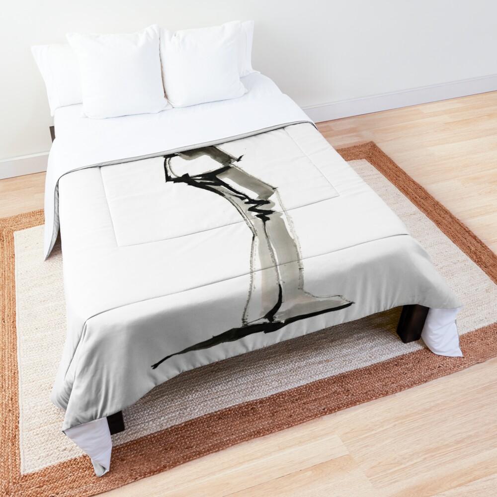 Musician Saxophonist Drawing Series Comforter