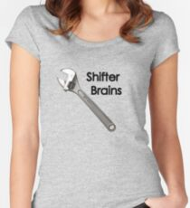 Shifter Brains Women's Fitted Scoop T-Shirt