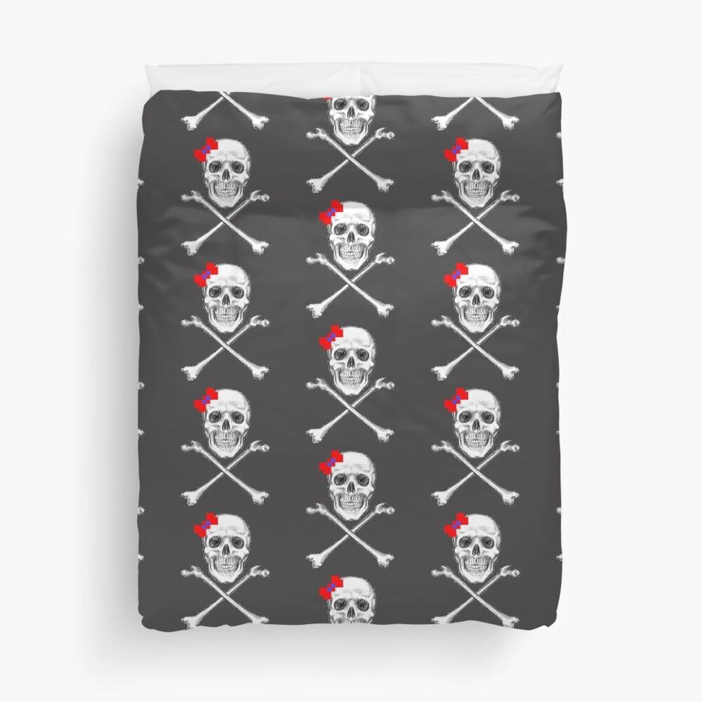 Ms Skull and Crossbones Duvet Cover