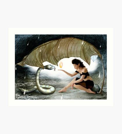 The Elf and the Snake Art Print